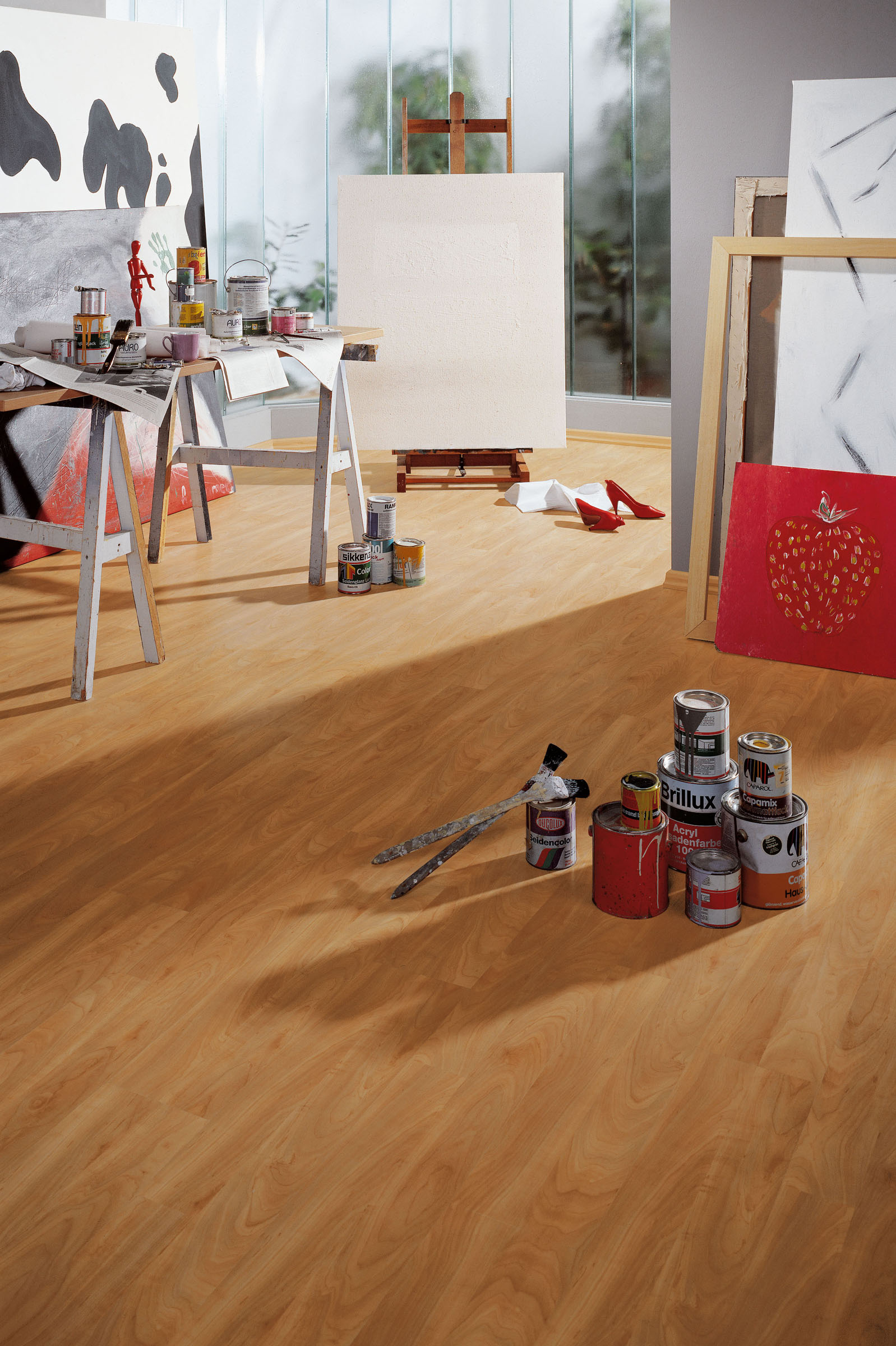 Laminate Flooring And The Ottomans Or Old