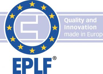 "elnd1308_b1: Der neue Claim des EPLF: ""Quality and Innovation made in Europe"" – Grafik: EPLF"