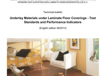 "elne1306_b1: The new EPLF data sheet ""Underlay Materials under Laminate Floor Coverings - Test Standards and Performance Indicators"" is a compact and free source of information. (Photo: EPLF)"